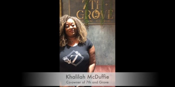 Screenshot of Take 5 with Khalila McDuffie, owner of Seventh and Grove